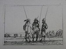 S. DELLA BELLA ´SOLDATEN MIT DER PIKE; SOLDIERS, PIKES, STAFF´ VESME 106, ~1642