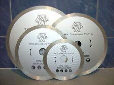 """110mm 4.3"""" THK Diamond segment sintered continuous rim TILE SAW BLADE wheel disc"""