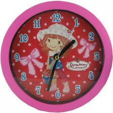 Strawberry Shortcake Small Wall Clock Basket of Strawberries Design