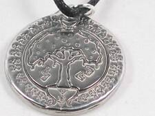 Tree of Abundance hand  poured Pewter Pendant, Prosperity,runes