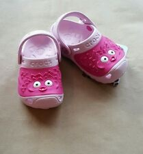 Crocs Girls Blow Fish Shoes Clogs Bubblegum Pink 10/11  Brand New free shipping
