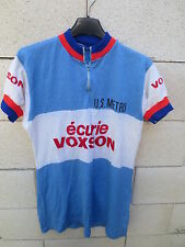 VINTAGE Maillot cycliste U.S METRO ECURIE VOXSON jersey camiseta cycling shirt L