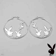 PLAYBOY New Hoop Earrings With Genuine Crystal Made in Metallic Base metal