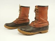 1980s SHEBOYGAN Vintage 8'' Leather-Rubber Insulated Hunting Duck Boots 8 M