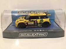 Scalextric C3742 BMW MINI Cooper F56 Power Maxed Challenge 2015 Slot Car (1:3...