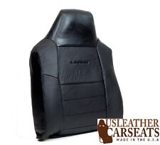 2002-2007 Ford F250 F350 Lariat Driver Top Lean Back Leather Seat Cover Black