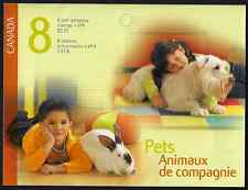 Canada -Booklet Pane of 8 -Pets: Fish, Cats, Rabbit & Dog #2060a X 2 (BK297) MNH