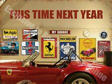 Next Year Car, Vintage Garage 160, Ferrari Sports Old, Small Metal/Tin Sign