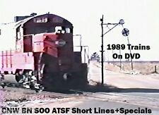 Trains DVD Best of 1989 N. Illinois- C&NW-BN-ATSF-SOO-EMD Open House 54 minutes