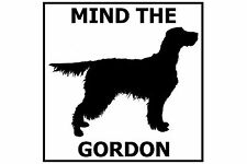 Mind the Gordon Setter Gate/Door Ceramic Tile Sign