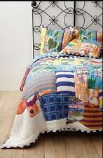 Anthropologie York Reversible King Quilt and 1Euro Sham NIP Very Hard To Find