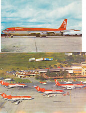 Columbia Postcards South America Airport and Avianca Columbia Boeing 707-300