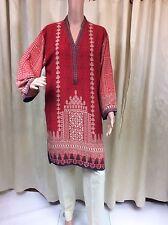 Asian pakistaní/Indio Original khaadi Kurta/Camisa Tamaño 12