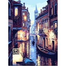 30*40cm Venice Paint By Number Digital Oil Painting Picture Printed On Canvas