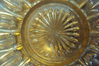 "Depression Glass with orange/peach center 11 1/2"" Serving Tray with Round Center"
