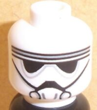 Lego AT-DP Pilot Head x 1 White for Star Wars Minifigure