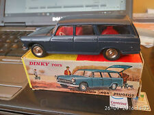 DINKY TOYS FRANCE 1/43 REF. 525 PEUGEOT 404 BREAK COMMERCIALE M&B VINTAGE
