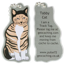 Chat Tigré Jogging Tag Pour Géocaching (Travel Bug Geocoin)