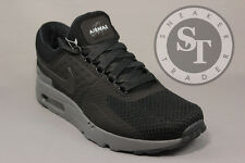 NIKE AIR MAX ZERO QS 789695-001 NIKELAB TIER 0 BLACK DARK GREY DS SIZE: 8.5