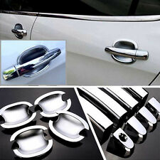 Non-Rusty Chrome Door Handle Bowl Cover Cup Overlay Trim Moulding For Peugeot308