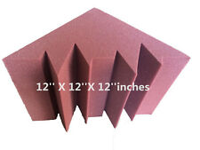 2PCS Acoustic Middle Bass Trap Foam Burgundy Soundproof 30.5cm*30.5cm*30.5cm