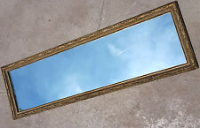 HOLLYWOOD REGENCY WALL MIRROR LONG 4ft RECTANGLE VINTAGE GOLD GILT MID-CENTURY