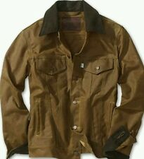 LEVI x FILSON TRUCKER JACKET M OIL FINISH TIN CLOTH WAXED COTTON vtg lvc