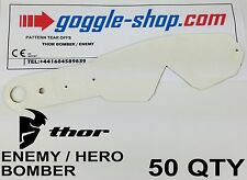 50 qty GOGGLE-SHOP MOTOCROSS TEAR OFFS to fit THOR ENEMY / HERO / BOMBER GOGGLES