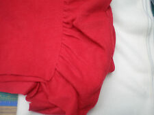 CHRISTMAS  Red Antipil Fleece Fabric with Ruffled Edge