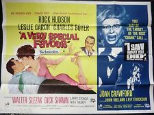 A VERY SPECIAL FAVOUR I SAW WHAT YOU DID QUAD POSTER ROCK HUDSON JOAN CRAWFORD
