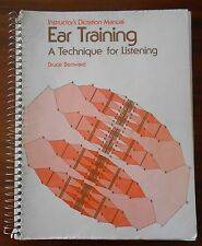 Instructor's Dictation Manual Ear Training A Technique for Listening
