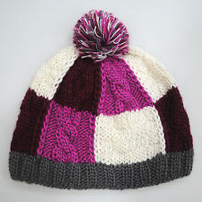Kenmont Cross & Cable Knit Wool Based Pom Beanie Winter Hat RRP £20!