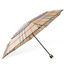 Burberry Check Folding Umbrella - Camel