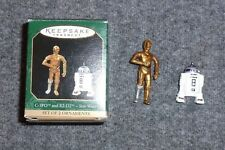 Hallmark Star Wars C-3PO & R2-D2 Mini Christmas Ornaments 1997