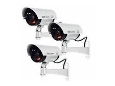 3x CHUPETE / FALSO CCTV CÁMARAS DE SEGURIDAD - GRAN EXTERIOR O DISUASIVO
