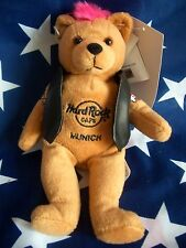 HRC Hard Rock Cafe Munich Punk Bear Mohawk 2009 Pink Hair Herrington