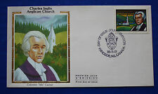 "Canada (1226) 1988 Charles Inglis & Anglican Church Colorano ""Silk"" FDC"