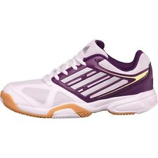 Adidas opticourt ligra 2 indoor baskets-blanc et violet-taille 6 – neuf