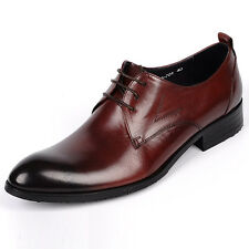Men's Genuine Cow Leather Shoes W6704 Dress Formal Classic Brown Black Size 5~12