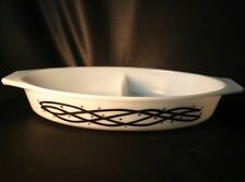 Vintage PYREX BARBED WIRE # 30 Divided Casserole Dish Only