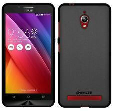 AMZER Pudding Matte TPU Skin Case Back Cover For Asus Zenfone Go ZC500TG - Black