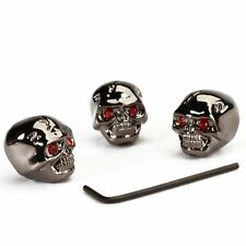 3pcs Electric Guitar Skull Head Volume Control Knobs---Black CP