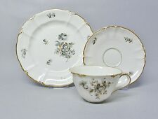 (G455) Nymphenburg Kaffee-, Espresso- / Mokkagedeck, Form Rokoko, Blumen Dekor