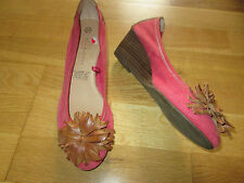 5th avenue pink brown leather slip on shoes size 3 eur 36 brand new without tags