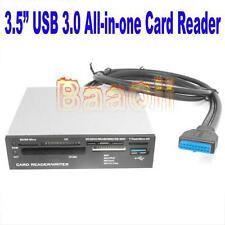 "3.5"" USB 3.0 20Pin to Front Panel Internal Card Reader Micro/SDHC TF CF+Hub HM"