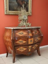 Antique French Louis XV Chest Drawers Sideboard Bombe Commode Walnut