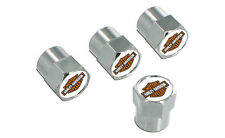 Harley-Davidson Chrome Valve Cap Covers with Color Bar & Shield