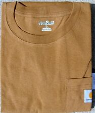 CARHARTT MEN'S WORKWEAR POCKET T-SHIRT - BROWN -XXL