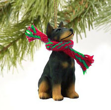 DOBERMAN PINSCHER (BLACK TAN) DOG CHRISTMAS ORNAMENT HOLIDAY  Figurine gift