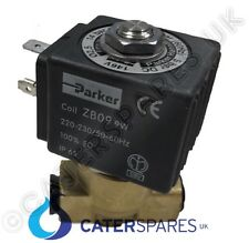 "PARKER 1/4"" BRASS WATER SOLENOID VALVE USED ON VARIOUS COFFEE MACHINE GAGGIA"